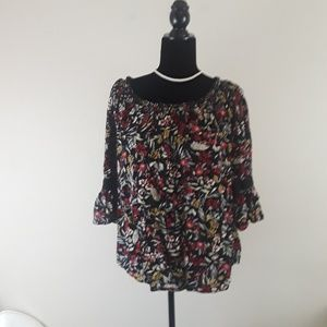 FADED GLORY Rayon Multicolor Top Blouse Size XL